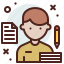 avatar, hire, job, jurnallist icon