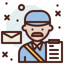 avatar, hire, job, mailman icon