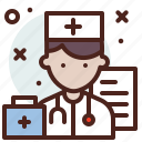 avatar, doctor, hire, job, nurse icon