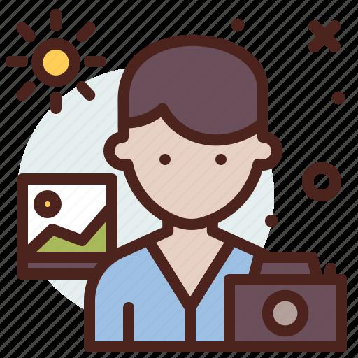 avatar, hire, job, photographer icon