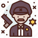 avatar, hire, job, officer, police icon