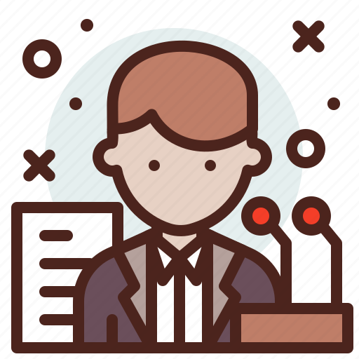 avatar, hire, job, public, speaker icon
