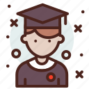 avatar, hire, job, student icon
