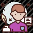 avatar, hire, job, writer icon