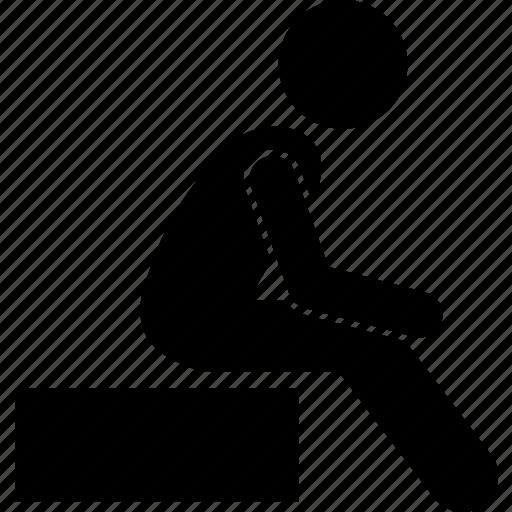 man person sit sitting icon