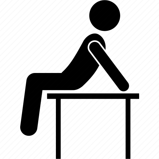 Desk Man People Person Sitting Table Icon