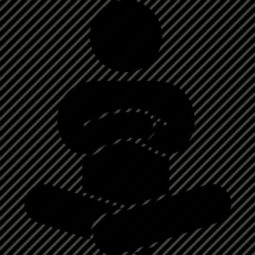 crossed, floor, hand, leg, man, sitting icon