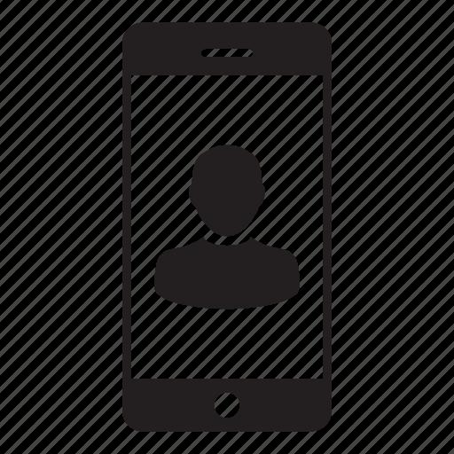 avatar, mobile, person, profile, smartphone, ui, user icon