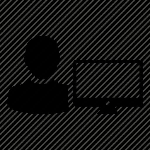 computer, human, monitor, online, person, profile, user icon