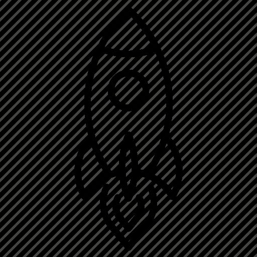 launch, rocket, ship, spaceship, startup icon