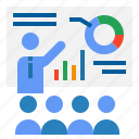 business, financial, man, presentation, statistics, stats icon