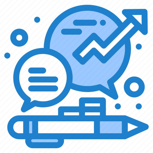business, chat, growth, management, office icon