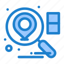 business, location, search icon
