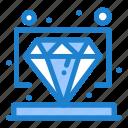 diamond, premium, value, vip icon