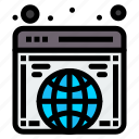 global, globe, internet, website icon