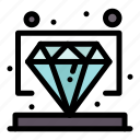 diamond, premium, value, vip icon