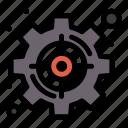 goal, management, set, strategic, target icon