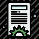 content, management, options, settings