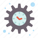 management, settings, time icon