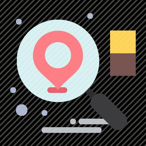 business, location, search icon