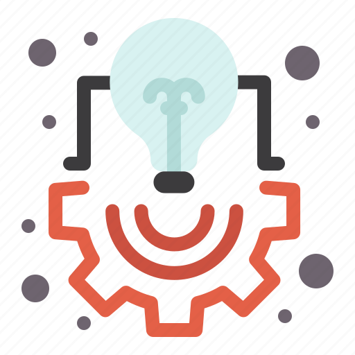 bulb, creative, idea, light, management, project icon