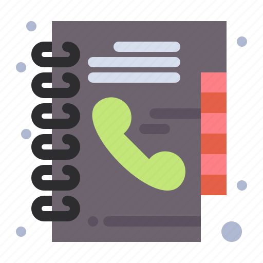 book, directory, phone icon