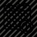 icon, line, calendar