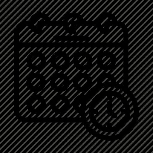 Icon, line, calendar icon - Download on Iconfinder