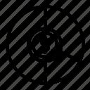 icon, line, pie chart