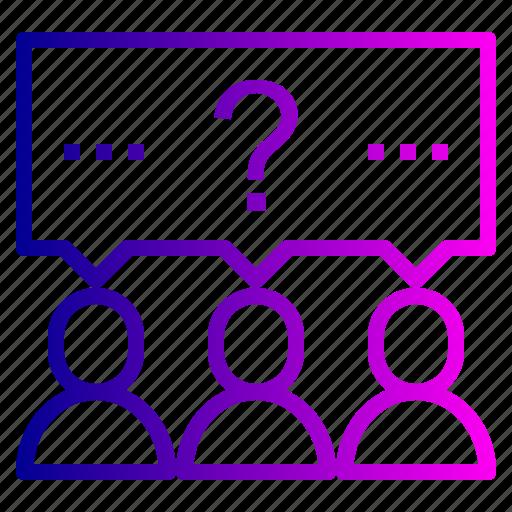brainstorm, idea, people, team icon