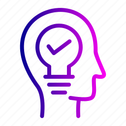 bulb, cogwheel, concept, development, idea, lamp icon