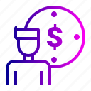 account, dollar, idea, user icon