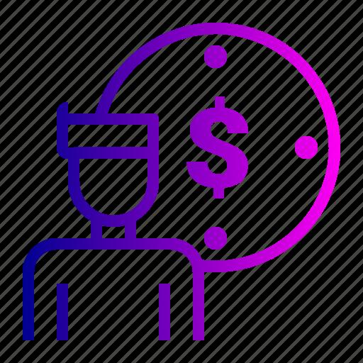 account, dollar, idea, user icon