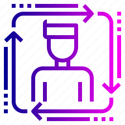 organization, process, sitemap, user, workflow icon