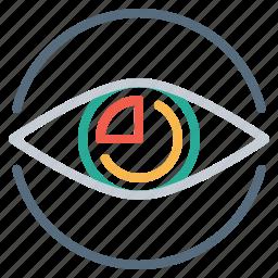 conversion, eye, marketing, research, seo, vision icon