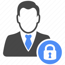 avatar, lock, manager, profile, safe, security, user icon