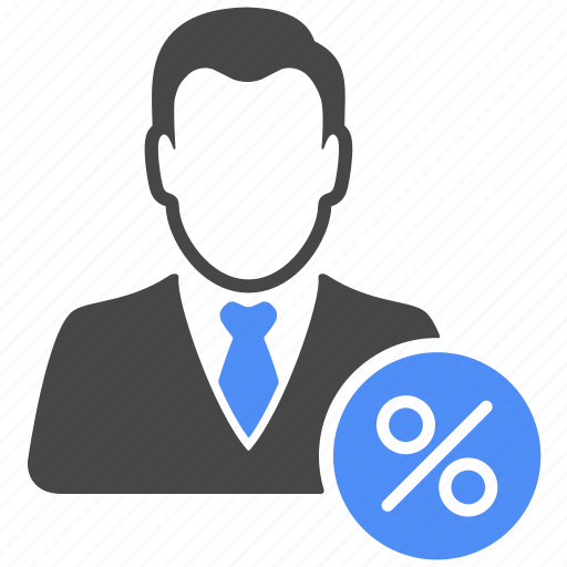 avatar, finance, manager, percent, percentage, profile, user icon