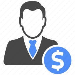 business, dollar, finance, manager, money, profile, user icon