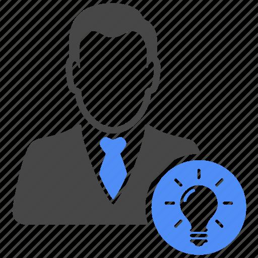 avatar, bulb, business, finance, idea, manager, profile icon