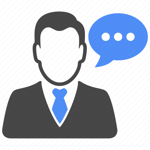 avatar, chat, manager, message, profile, talk, user icon