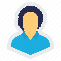 avatar, curly, hair, human, man, person, profile icon
