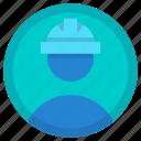 avatar, employee, helmet, labour, worker icon