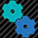 gears, machine, maintenance, settings, work icon
