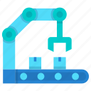 factory, hand, industry, machine, robot icon