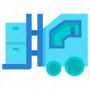box, factory, fork, industry, lift, vehicle icon