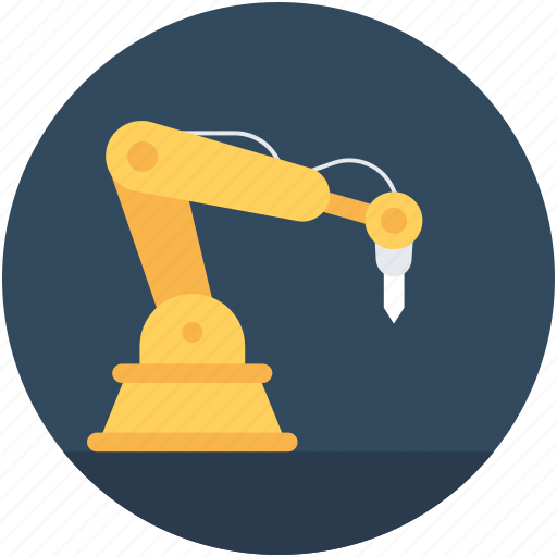 industrial arm, industrial robot, manufacturing, packaging robot, robotic arm icon