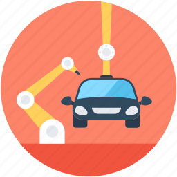 car, car industry, car lifter, crane, crane tow icon
