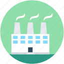 chimney, factory, industrial, industry, nuclear plant