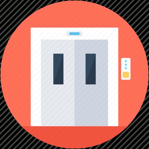 electric elevator, elevator, elevator lift, lift, vertical transport icon