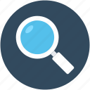 magnifier, magnifying glass, search, view, zoom icon